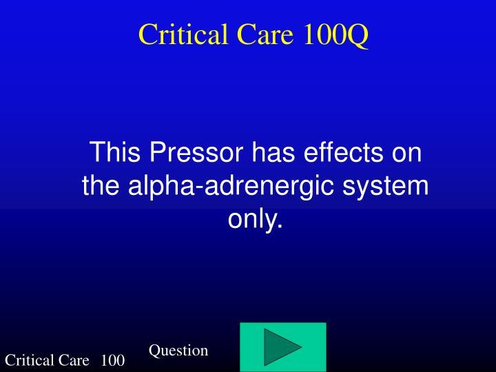 Critical Care 100Q