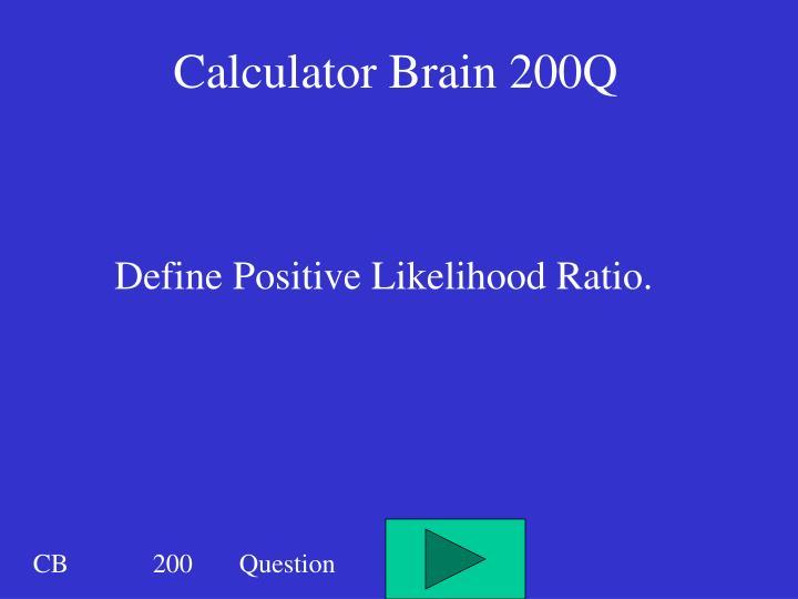 Calculator Brain 200Q
