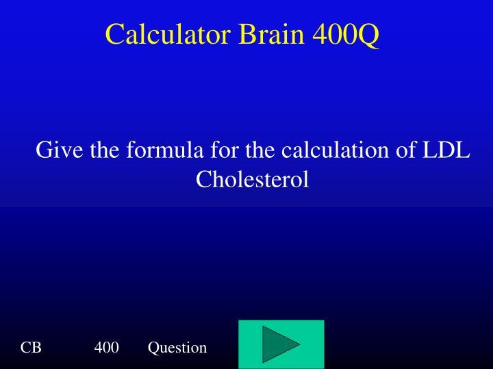 Calculator Brain 400Q