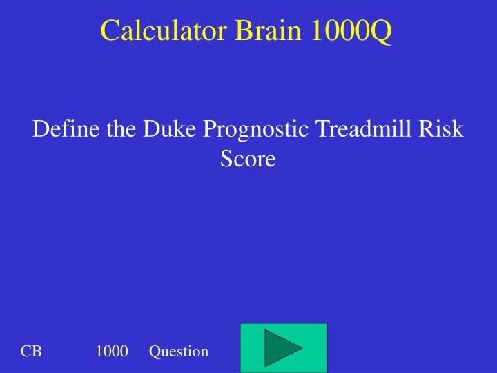 Calculator Brain 1000Q