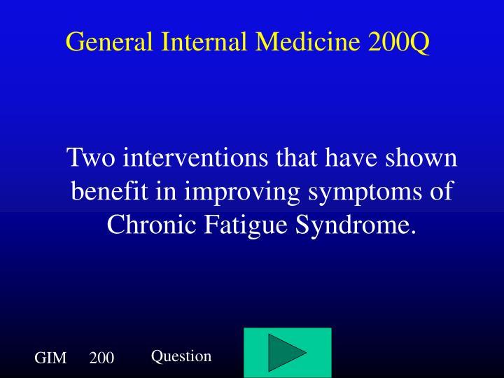 General Internal Medicine 200Q