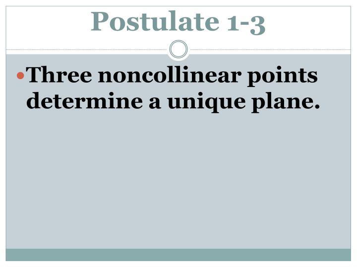 Postulate 1-3