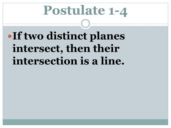Postulate 1-4