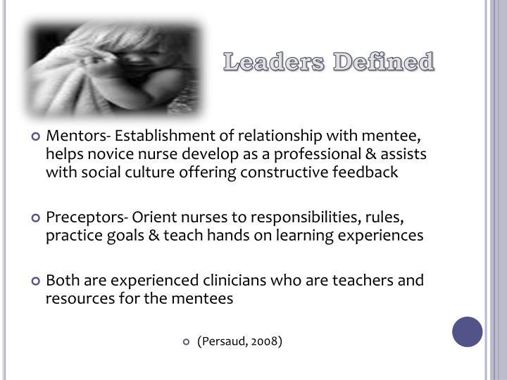 Leaders Defined