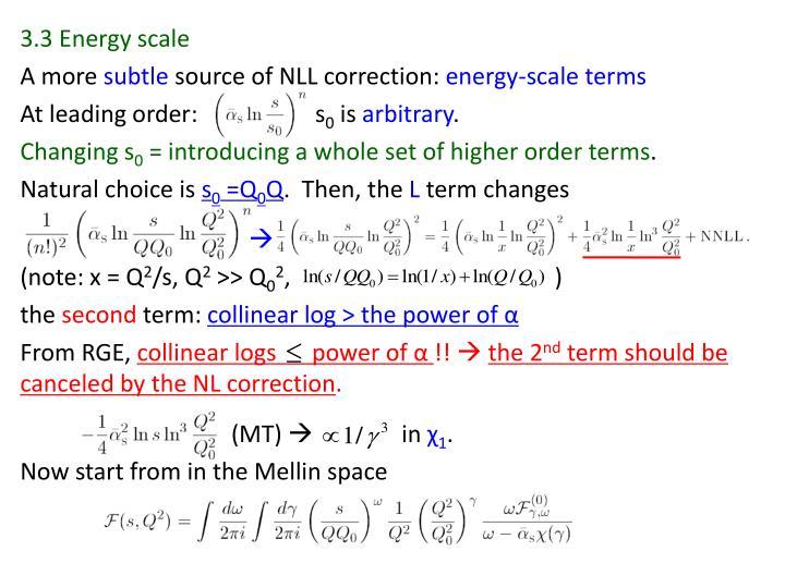 3.3 Energy scale