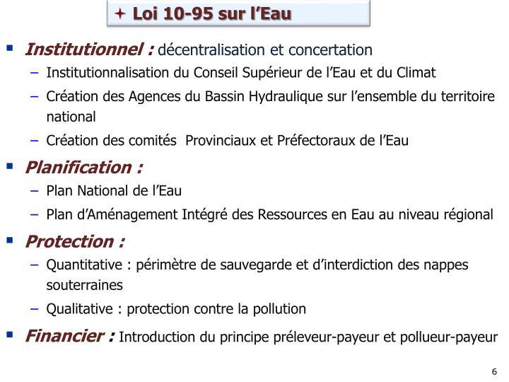 Loi 10-95 sur l'Eau