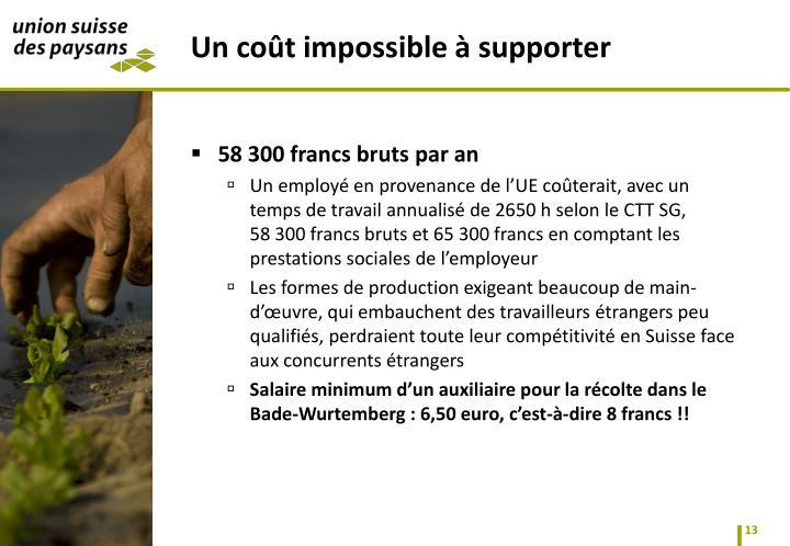 58300 francs bruts par an
