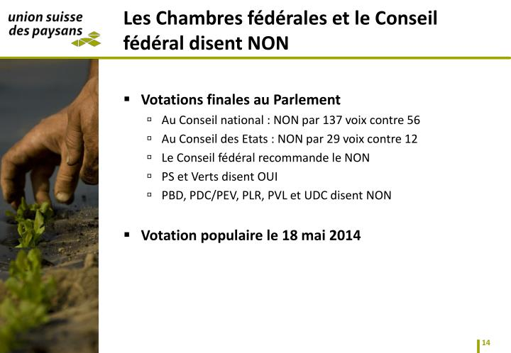 Votations finales au Parlement