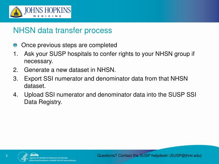 NHSN data transfer process