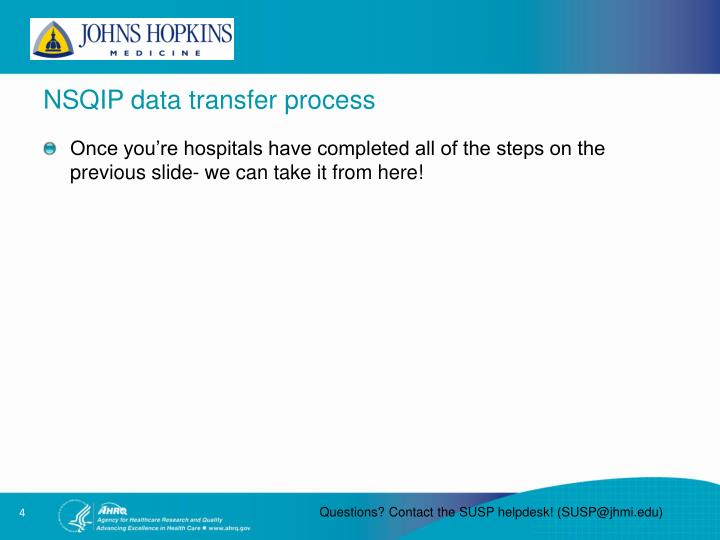 NSQIP data transfer process
