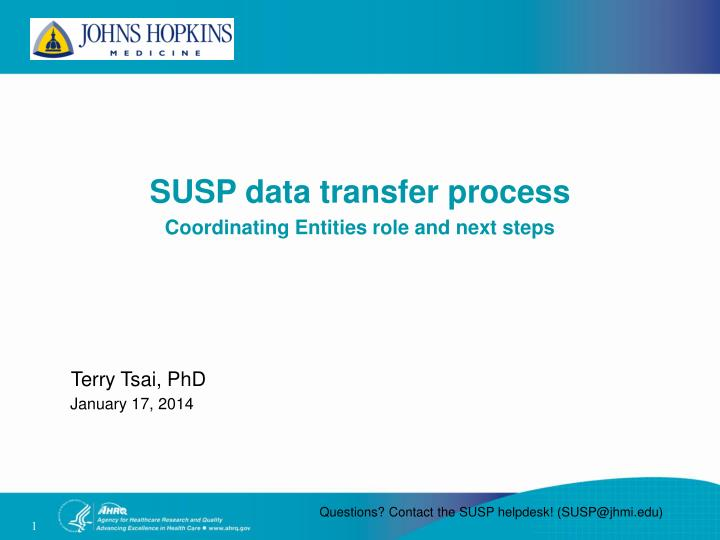 SUSP data transfer process