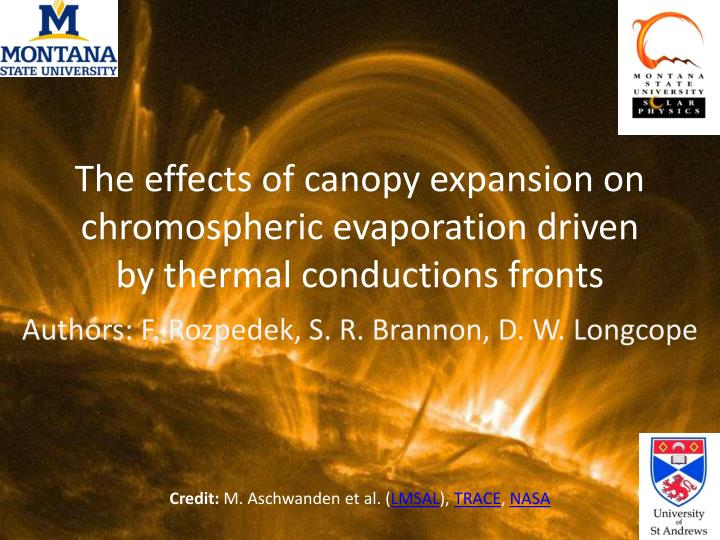 The effects of canopy expansion on chromospheric evaporation driven by thermal conductions fronts