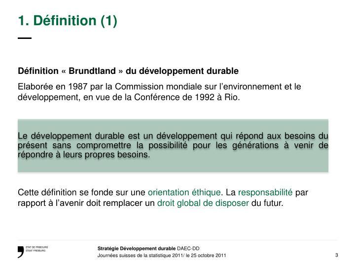 1. Définition (1)