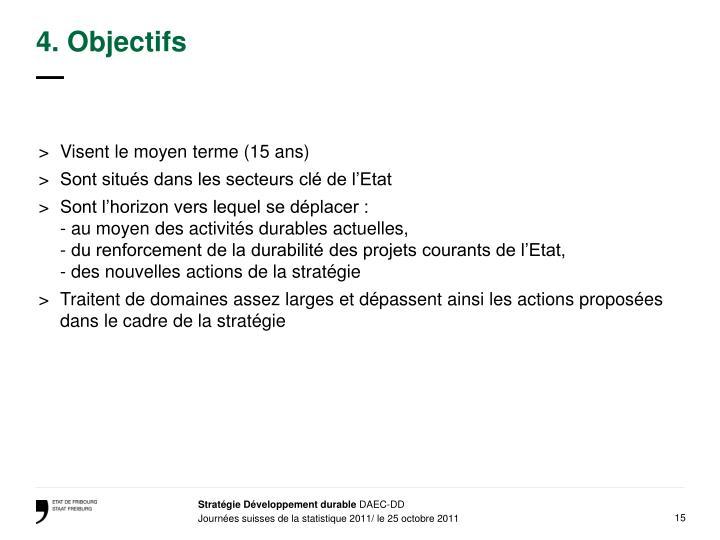 4. Objectifs