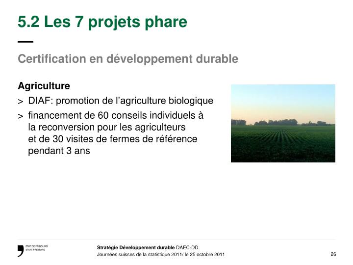 5.2 Les 7 projets phare
