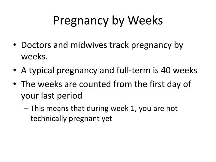 Pregnancy by Weeks