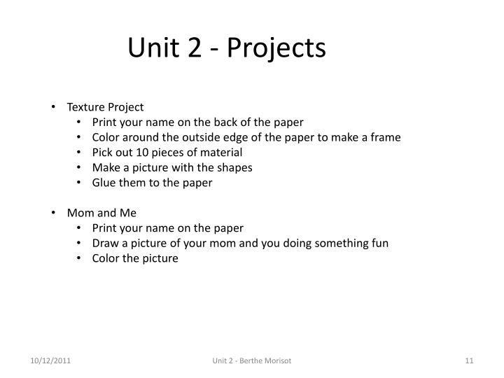 Unit 2 - Projects