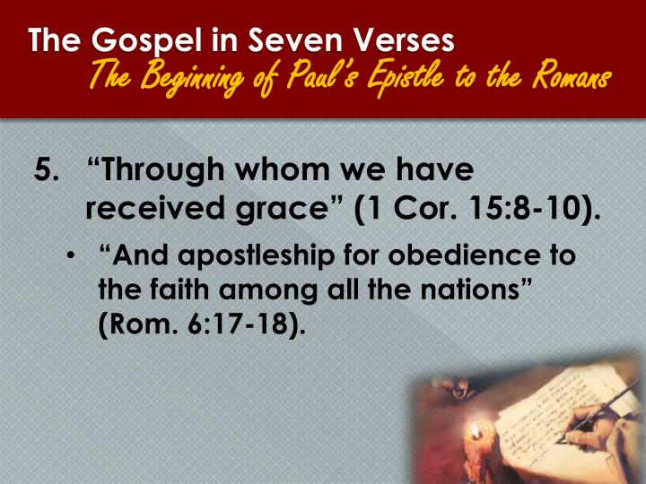 The Gospel in Seven Verses