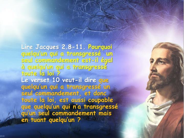 Lire Jacques 2.8-11.