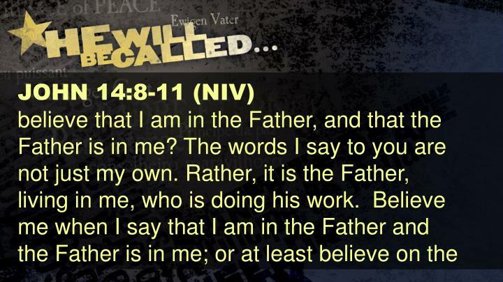 JOHN 14:8-11