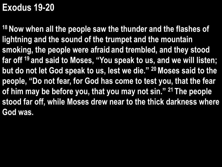 Exodus 19-20