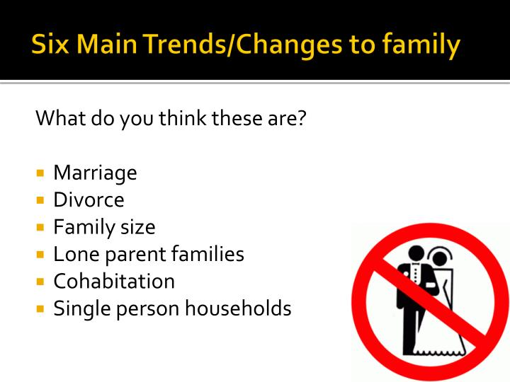 Six Main Trends/Changes to family