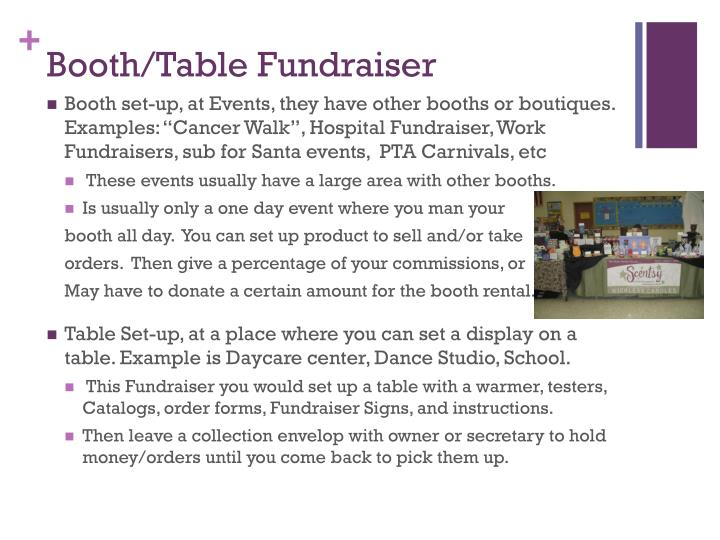 Booth/Table Fundraiser