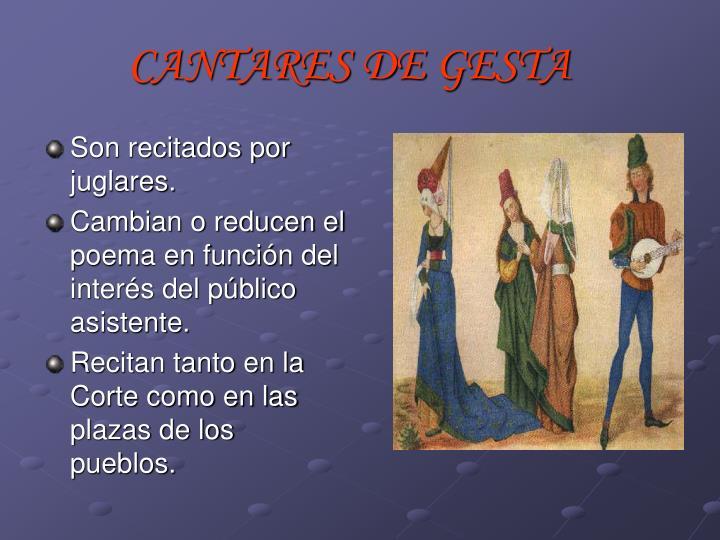 CANTARES DE GESTA