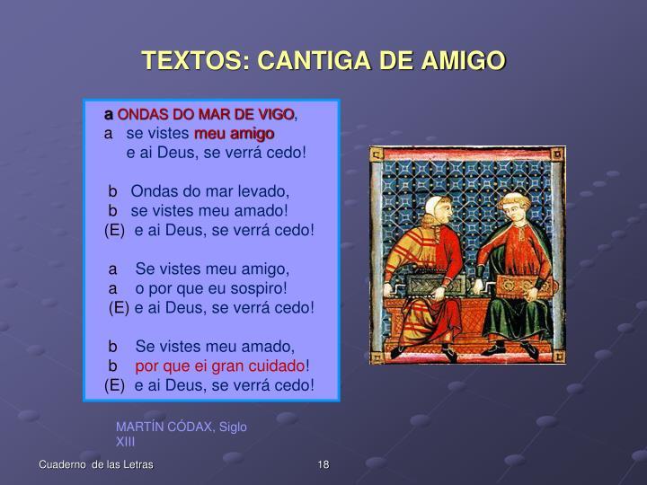 TEXTOS: CANTIGA DE AMIGO