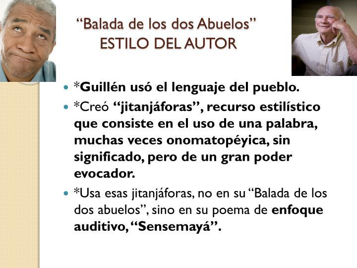 """""""Balada de los dos Abuelos"""""""
