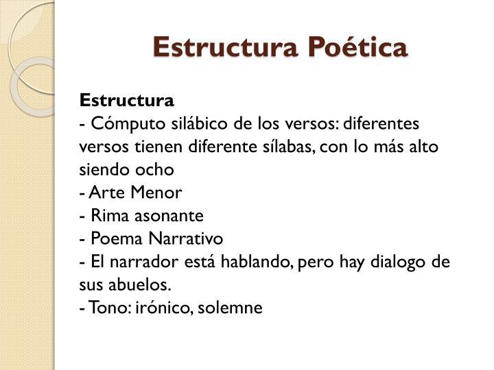 Estructura Poética