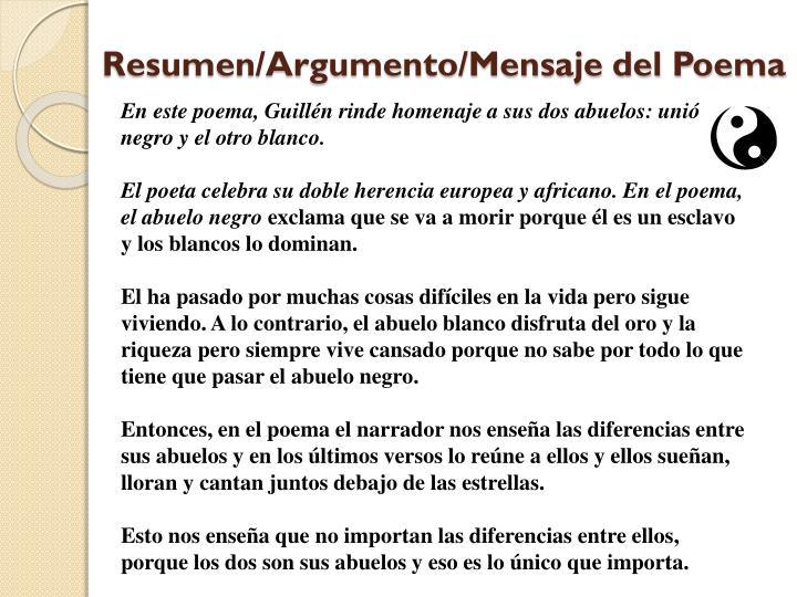 Resumen/Argumento/Mensaje