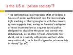 is the us a p rison society