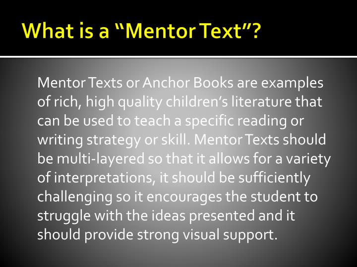 mentor texts for literary essays About the unit this unit helps fifth graders meet sky-high expectations for writing literary essays members of the class begin by writing an essay about.