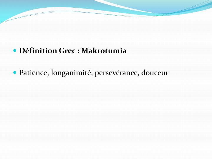 Définition Grec: