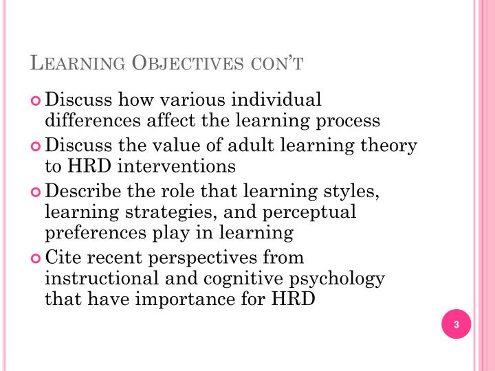 how individual differences affect learning