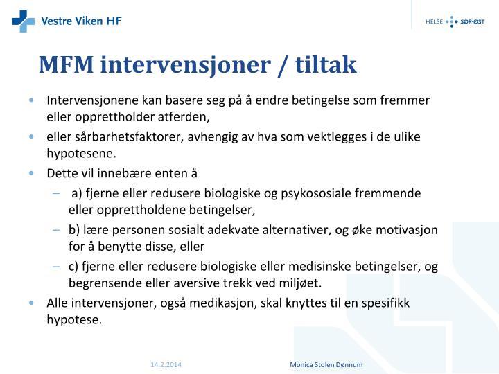 MFM intervensjoner / tiltak