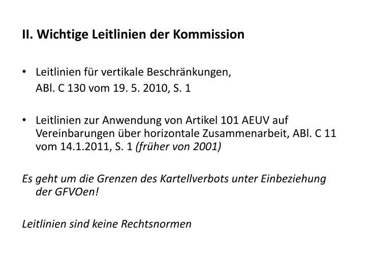 II. Wichtige Leitlinien der Kommission