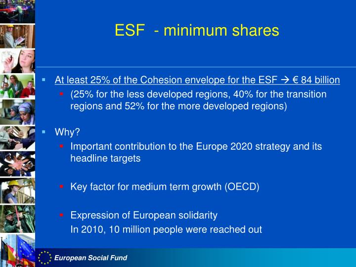ESF  - minimum shares