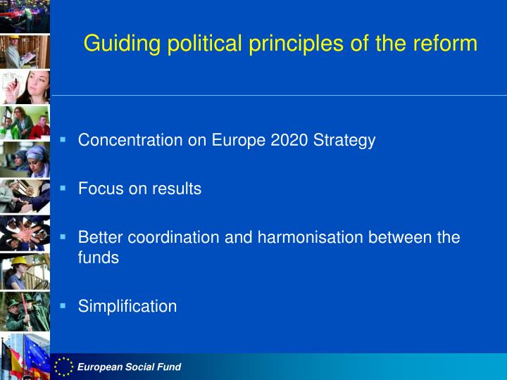 Guiding political principles of the reform