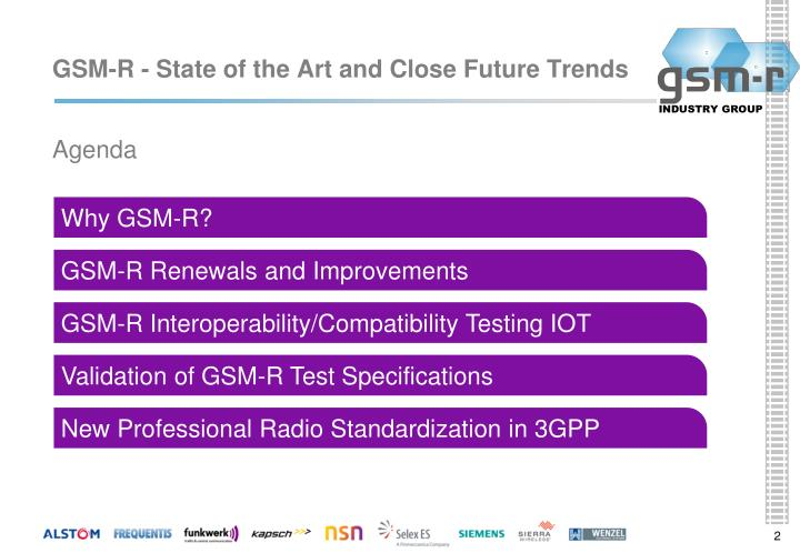 Gsm r state of the art and close future trends