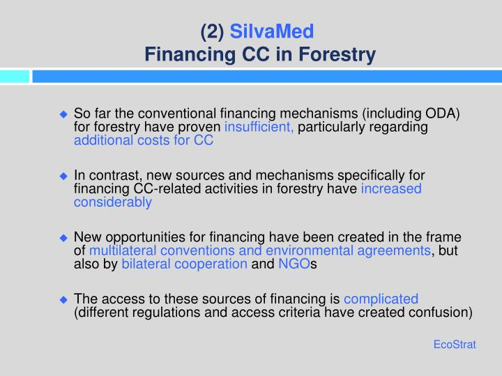 2 silvamed financing cc in forestry