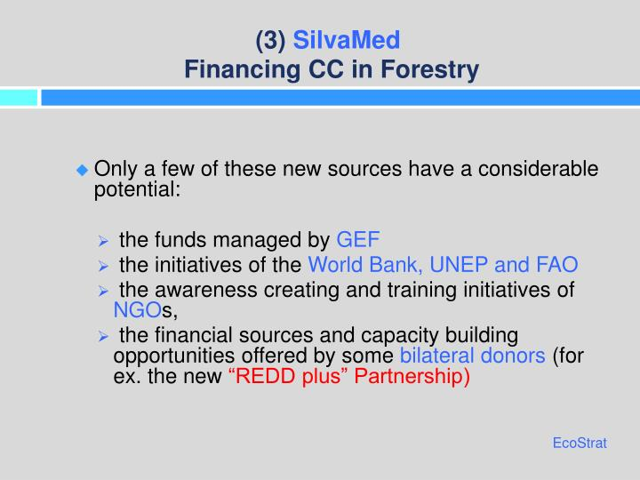 3 silvamed financing cc in forestry