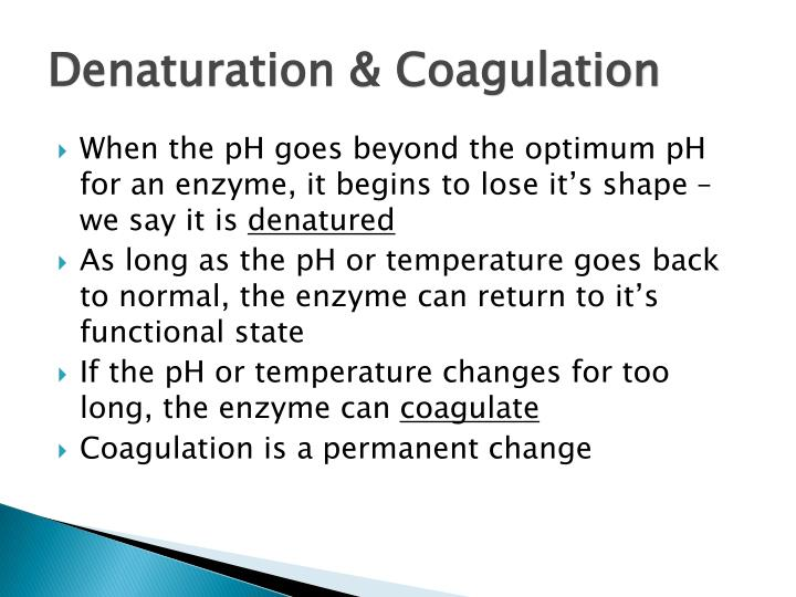 Denaturation & Coagulation