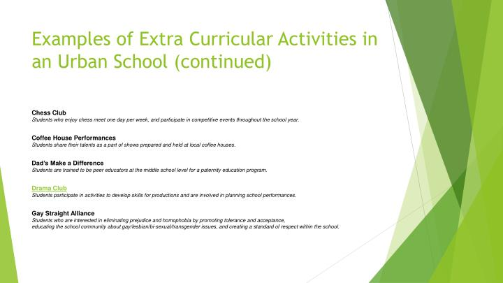 ppt extra curricular activities powerpoint presentation