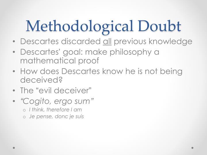 method of doubt descartes essay topics