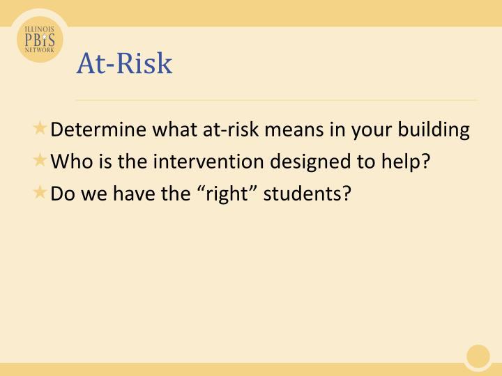 At-Risk