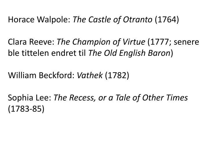 Horace Walpole: