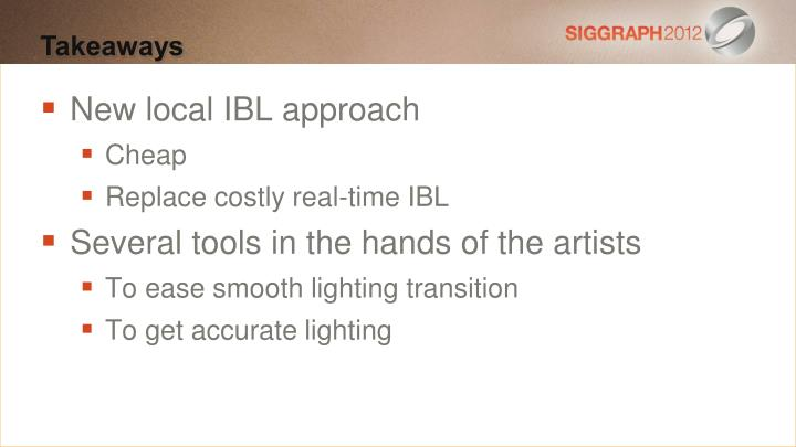 New local IBL approach