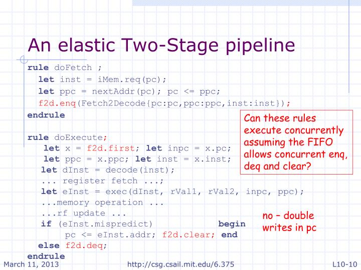 An elastic Two-Stage pipeline